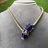 Antique Enamel and Diamond Serpent Necklace 21