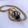 Antique Enamel and Diamond Serpent Necklace 11