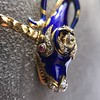 Antique Enamel and Diamond Serpent Necklace 20