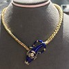 Antique Enamel and Diamond Serpent Necklace 14