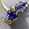 Antique Enamel and Diamond Serpent Necklace 19