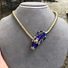 Antique Enamel and Diamond Serpent Necklace 6