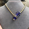 Antique Enamel and Diamond Serpent Necklace 23