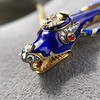 Antique Enamel and Diamond Serpent Necklace 4