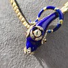 Antique Enamel and Diamond Serpent Necklace 18