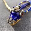 Antique Enamel and Diamond Serpent Necklace 3