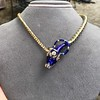 Antique Enamel and Diamond Serpent Necklace 24