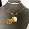 Antique French Locket and Fancy Chain 12