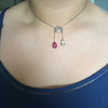 Antique Tourmaline and Aquamarine Negligee Pendant 16