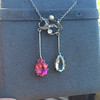 Antique Tourmaline and Aquamarine Negligee Pendant 5