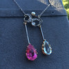 Antique Tourmaline and Aquamarine Negligee Pendant 9