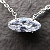 .53ct Antique Moval Cut Diamond Pendant, GIA J VS2 14