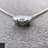 .53ct Antique Moval Cut Diamond Pendant, GIA J VS2 11