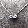 .53ct Antique Moval Cut Diamond Pendant, GIA J VS2 10