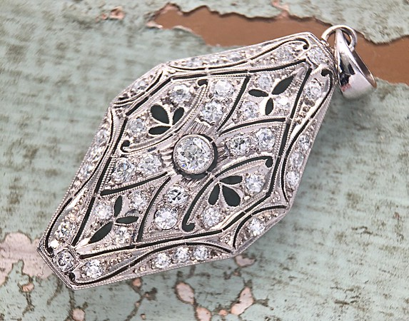 Antique Old European Cut Diamond Pendant
