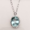 7.87ct Aquamarine Halo Pendant 25
