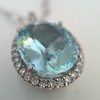 7.87ct Aquamarine Halo Pendant 21
