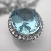 7.87ct Aquamarine Halo Pendant 28