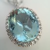 7.87ct Aquamarine Halo Pendant 4