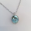 7.87ct Aquamarine Halo Pendant 9