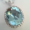 7.87ct Aquamarine Halo Pendant 22