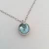 7.87ct Aquamarine Halo Pendant 19
