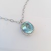 7.87ct Aquamarine Halo Pendant 10