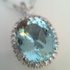 7.87ct Aquamarine Halo Pendant 24