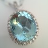 7.87ct Aquamarine Halo Pendant 23