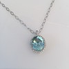 7.87ct Aquamarine Halo Pendant 6
