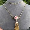 Enamel and Tassel Burmese Ruby Necklace 9