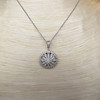 Flower Motif Diamond Locket 6