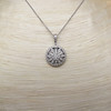 Flower Motif Diamond Locket 5