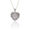 Heart Motif Diamond Locket 0