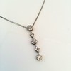 Lariat Style Diamond Necklace 18
