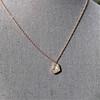 .65ctw Rose Gold Askew Heart Mosaic Pendant 19