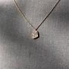 .65ctw Rose Gold Askew Heart Mosaic Pendant 10
