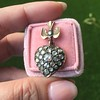 Victorian Revival Heart and Bird Rose Cut Diamond Pendant 8