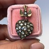Victorian Revival Heart and Bird Rose Cut Diamond Pendant 1