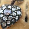 Victorian Revival Heart and Bird Rose Cut Diamond Pendant 9