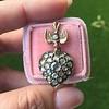 Victorian Revival Heart and Bird Rose Cut Diamond Pendant 13