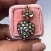 Victorian Revival Heart and Bird Rose Cut Diamond Pendant 4