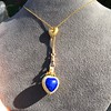 Victorian Enamel Pendant, Slider Chain 30