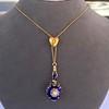Victorian Enamel Pendant, Slider Chain 2