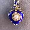 Victorian Enamel Pendant, Slider Chain 3