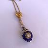 Victorian Enamel Pendant, Slider Chain 16