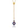 Victorian Enamel Pendant, Slider Chain 0