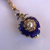 Victorian Enamel Pendant, Slider Chain 12
