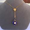 Victorian Enamel Pendant, Slider Chain 19