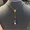 Victorian Enamel Pendant, Slider Chain 24